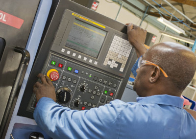 machining control and operator