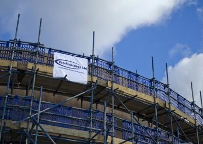 profix scaffolding on hospital building