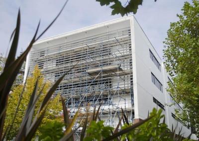 southampton university building showing scaffolding