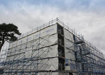 scaffolding profix school building