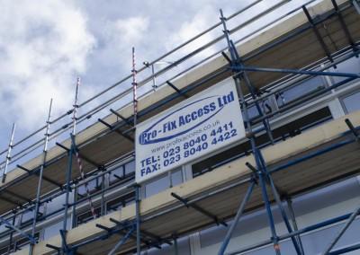 scaffolding building