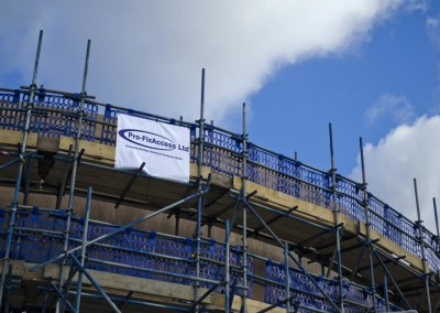 scaffolding hospital building