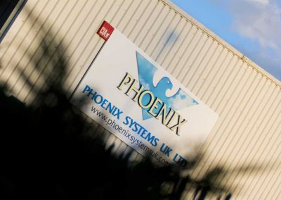 phoenix systems outside building sign