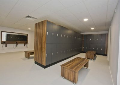 sports centre changing rooms